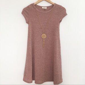 NWOT Pinc pink knit sweater dress junior M